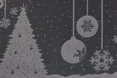 与圣诞节样式的餐巾 免版税库存照片
