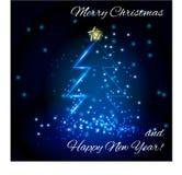 与圣诞节歌曲的卡片 库存图片