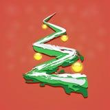 与圣诞节玩具的圣诞树 免版税库存照片