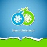 与圣诞节球的背景 免版税库存图片