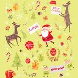 与圣诞节矮子的无缝的样式,圣诞老人 向量例证