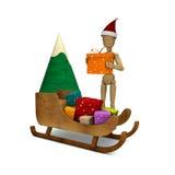 与圣诞节礼品的虚拟 向量例证