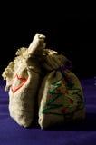 与圣诞节礼物的袋子 免版税库存照片