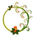 与圣诞节蜡烛的圆的框架 免版税库存图片