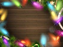与圣诞节装饰的假日例证 10 eps 图库摄影