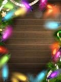 与圣诞节装饰的假日例证 10 eps 免版税图库摄影