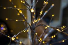 与圣诞节装饰的抽象未聚焦的背景 库存图片
