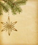 与圣诞节装饰的纸张 免版税库存照片