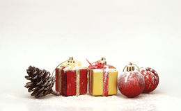 与圣诞节装饰的背景 图库摄影