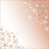 与圣诞节雪花的抽象浅粉红色的背景 图库摄影