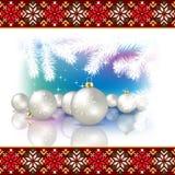 与圣诞节12月的抽象庆祝背景 库存照片