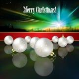 与圣诞节12月的抽象庆祝背景 库存图片