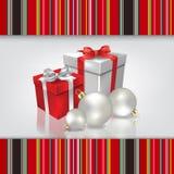 与圣诞节gif的抽象庆祝背景 库存图片