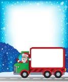与圣诞节van theme 2的框架 库存照片