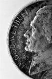 与在上帝的老硬币我们信任词 免版税库存照片