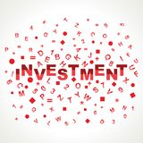 与在字母表的投资字 库存照片