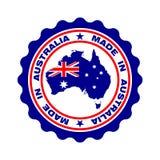 与在澳大利亚'制造的'文本的邮票 皇族释放例证