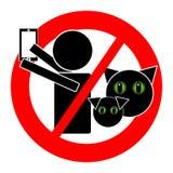 与在白色背景隔绝的动物象的没有selfie 免版税库存照片