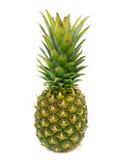 与在白色背景隔绝的叶子的菠萝 免版税库存图片