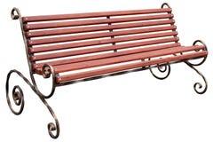 与在白色背景隔绝的扭转的腿的长木凳 向量例证