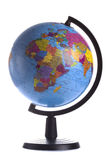 与在白色隔绝的政治地图的地球 免版税库存图片