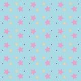 与在白色背景隔绝的星的无缝的明亮的抽象样式 图库摄影