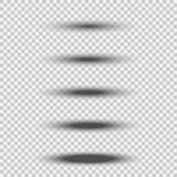 与在白色背景隔绝的软的边缘的另外透明黑卵形阴影集合 传染媒介分切器元素 向量例证
