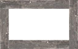 与在白色隔绝的拷贝空间的木框架 免版税图库摄影