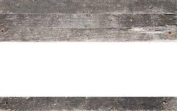 与在白色隔绝的拷贝空间的木框架 图库摄影