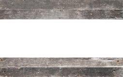 与在白色隔绝的拷贝空间的木框架 免版税库存照片