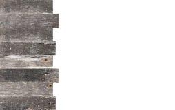 与在白色隔绝的拷贝空间的木框架 免版税库存图片