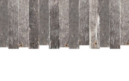 与在白色隔绝的拷贝空间的木框架 库存照片