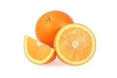 与在白色隔绝的裁减的橙色果子 免版税图库摄影