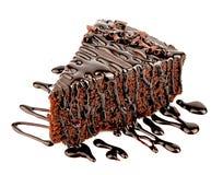 与chocalate creame的巧克力蛋糕 图库摄影