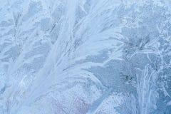 与在窗口结冰的冰的纹理 库存图片