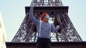 与地图埃佛尔铁塔的笑剧旅游查寻 影视素材
