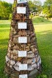与地方岩石样品的金字塔在格罗尔斯泰因 免版税库存照片