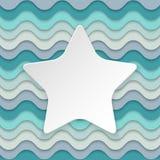 与地方的五颜六色的波浪背景以s的形式文本的 免版税库存照片