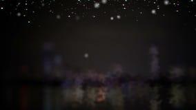 与地方的圣诞树文本的 股票视频