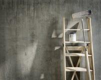 与地方的艺术性的家庭修理的概念构成商标的 免版税库存图片