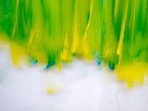 与地方的绿色黄色背景文本的 库存图片