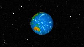 与地球和月亮的抽象背景 空间背景 皇族释放例证