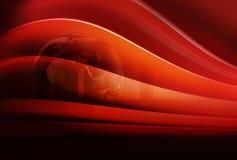 与地球地球和弯的图解最新新闻背景 图库摄影