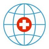 与地球地球的医疗发怒象 被隔绝的地球地球 免版税图库摄影