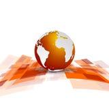 与地球的发光的行动技术传染媒介背景 免版税库存图片