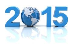 与地球的新年2015年 免版税库存照片