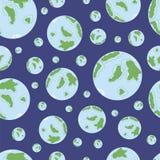 与地球的无缝的纹理 免版税图库摄影
