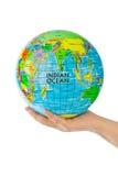 与地球的现有量 免版税库存照片
