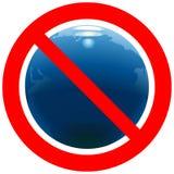 与地球的禁止的路标 皇族释放例证