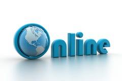 与地球的网上例证。 免版税库存图片